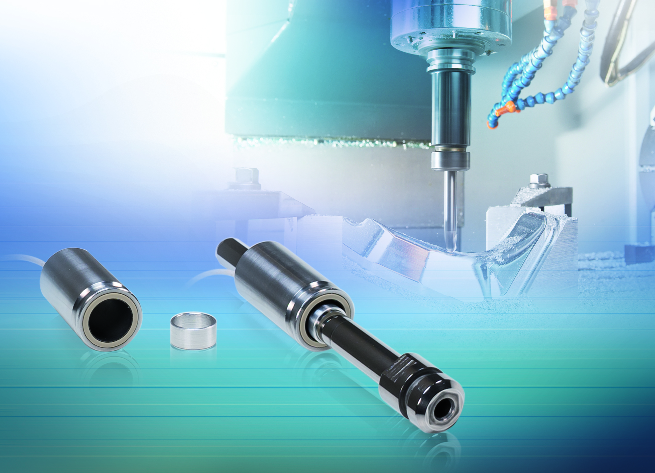 The new induSENSOR LVP/LDR range of inductive displacement sensors monitor the clamping position in machine tools.