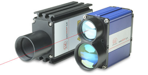 Laser distance sensors for larger measuring ranges
