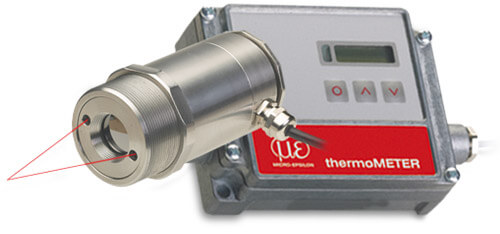 Infrared temperature sensors with laser aiming for high performance temperature measurements
