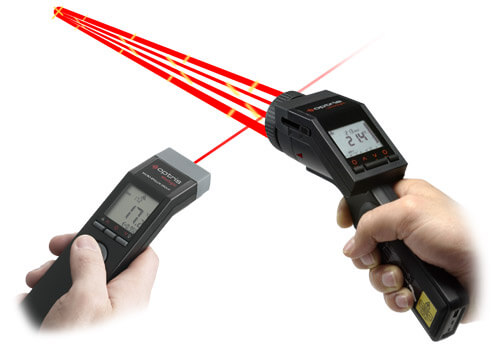 Handheld IR cameras and pyrometer